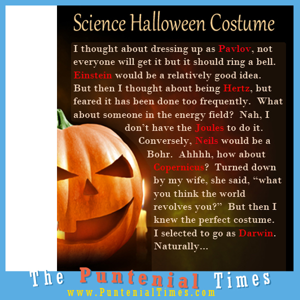science halloween costume